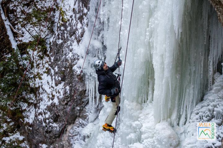 Echipament alpinism, catarare pe gheata