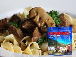 Mancare dezhidratata liofilizata Travellunch Aliment Beef,Nudle and Mushroom 125g