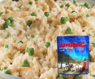 Mancare deshidratata liofilizata Travellunch Aliment instant Chicken Risotto Gluten free 125g