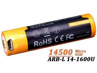 Acumulator Fenix 14500 - 1600mAh - Micro-USB - ARB-L 14-1600U