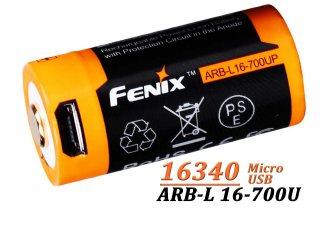 Acumulator Fenix 16340 - 700mAh - cu Micro-USB - ARB-L 16-700U