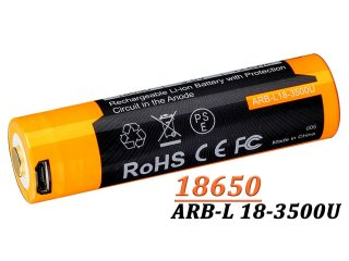 Acumulator Fenix 18650 - 3500mAh - cu Micro-USB - ARB-L 18-3500U