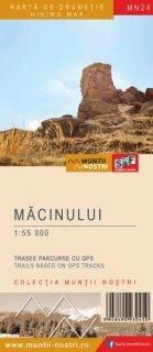 Harta montana Muntii Macinului