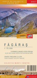 Harta montana Fagaras