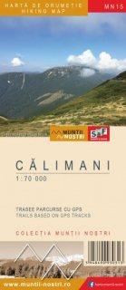 Harta montana Muntii Calimani