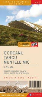 Harta montana Muntii Godeanu - Tarcu - Muntele Mic