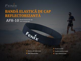 Fenix AFH-10 - Banda elastica de cap reflectorizanta - intru activitasi sportive - Portocaliu