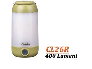 FENIX CL26R - Lanterna camping - 400 Lumeni - 25 metri - Verde