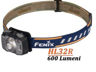 Fenix HL32R - Lanterna Frontala î - 600 Lumeni - 73 Metri - Gri