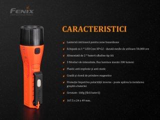 Fenix WF11E - Lanterna ATEX - 200 Lumeni - 185 Metri