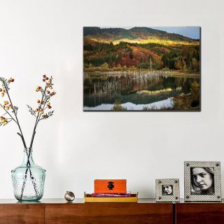 Tablou canvas 50x70 - Lacul Cuejdel Toamna
