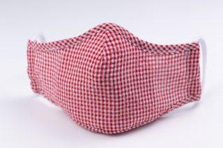 Masca de protectie reutilizabila 3 straturi Rosu si Alb