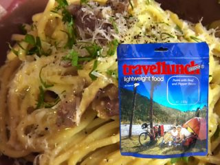 Mancare dezhidratata liofilizata Travellunch Aliment instant Pasta Carbonara 125g