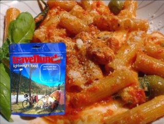 Mancare dezhidratata liofilizata Travellunch Pasta with Olives 125g vegetarian