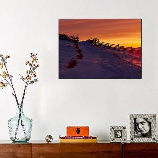 Tablou canvas 50x70 - Rasarit de Iarna