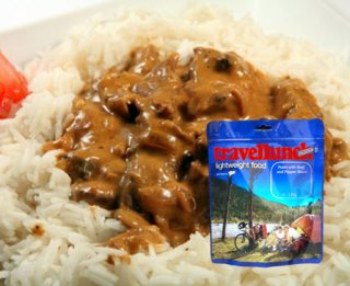 Mancare deshidratata liofilizata Travellunch Aliment instant Beef Stroganoff with Rice 250g